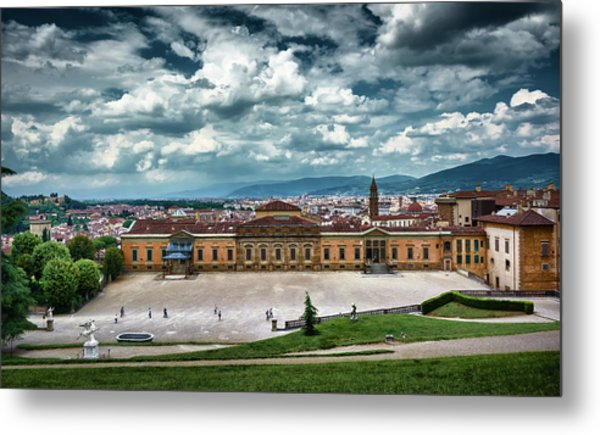 The Meridian Palace And Cityscape In Florence, Italy Metal Print