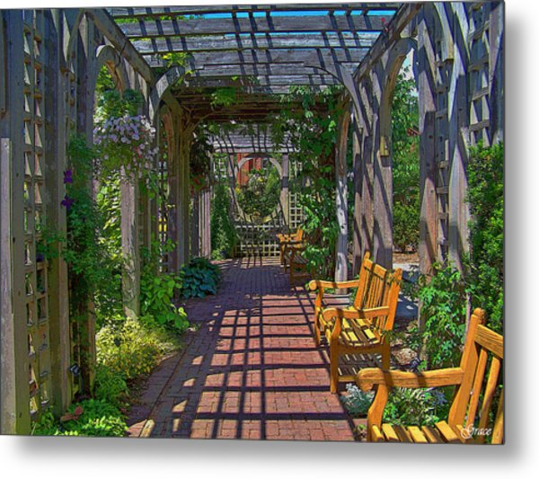 Underneath The Arbor Metal Print