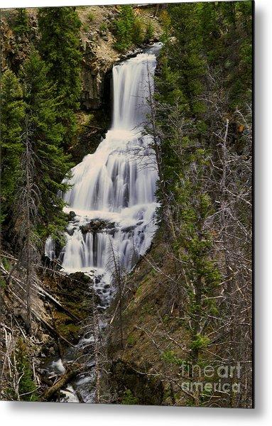 Undine Falls On Lava Creek Metal Print by Dennis Hammer
