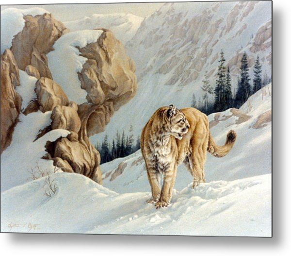 Uneasy Metal Print by Kathleen  V  Butts