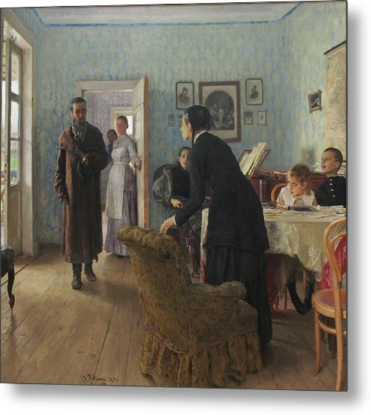 Unexpected Visitors Metal Print by Ilya Repin