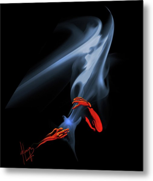 Unholy Smoke Metal Print