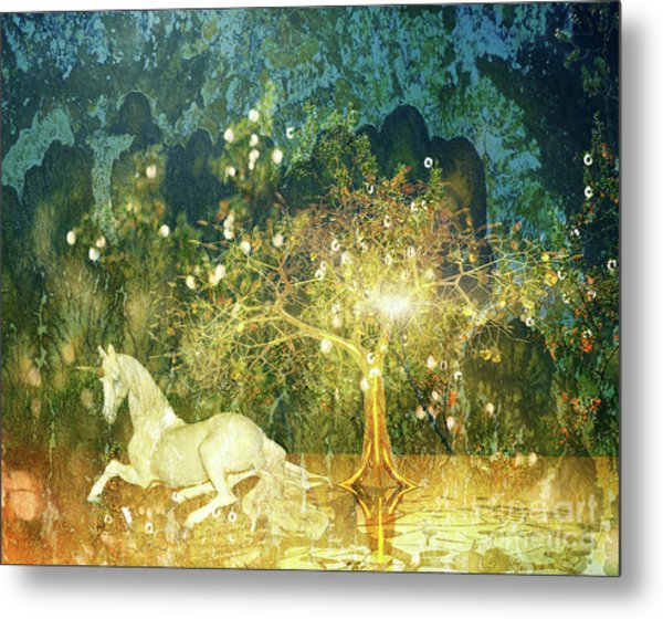 Unicorn Resting Series 3 Metal Print