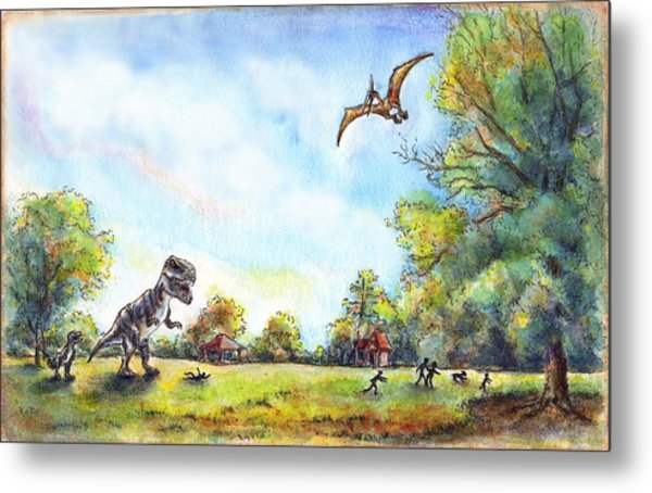 Uninvited Picnic Guests Metal Print