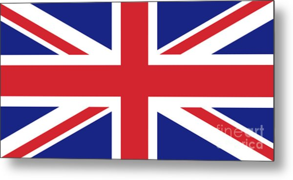 Union Jack Ensign Flag 1x2 Scale Metal Print