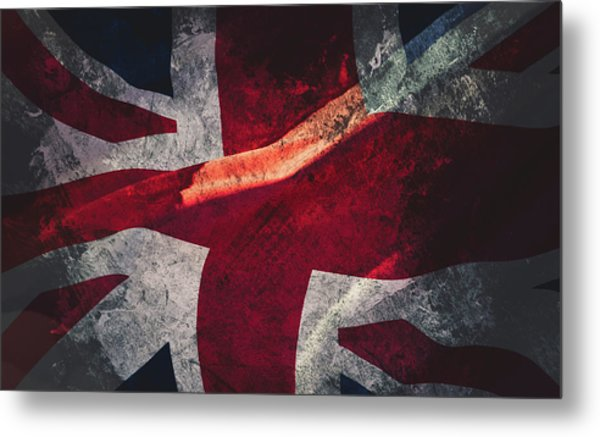 Union Jack Fine Art, Abstract Vision Of Great Britain Flag Metal Print