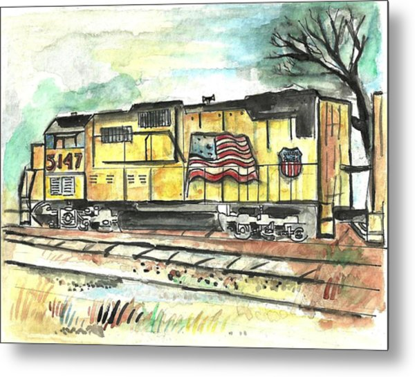 Union Pacific Engine Metal Print