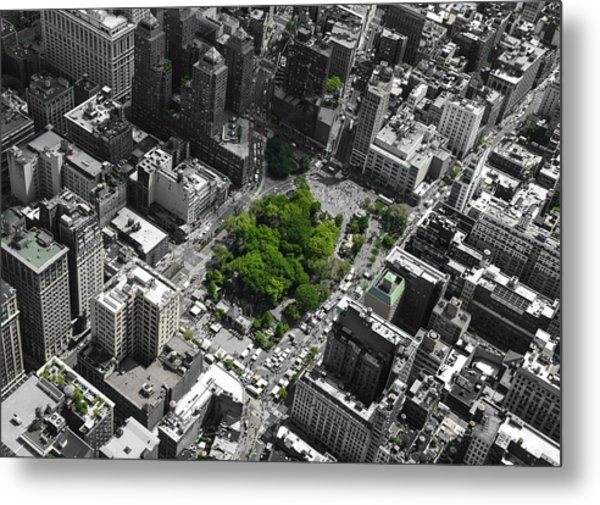 Metal Print featuring the photograph Union Square Park by Rand