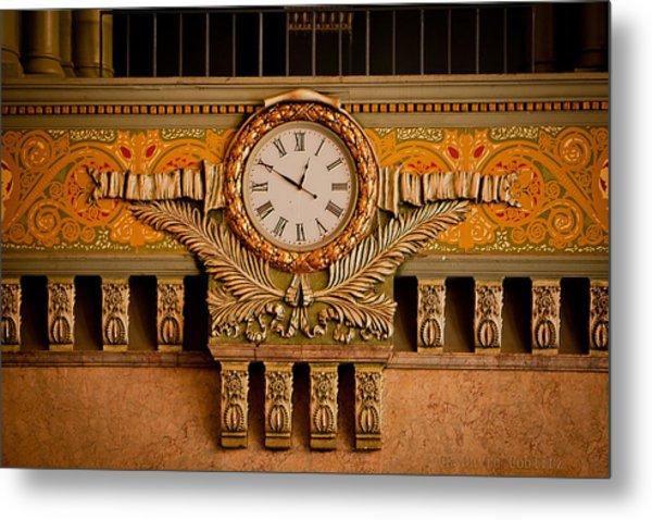 Union Station Clock Metal Print