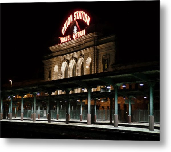 Union Station Denver Colorado Metal Print