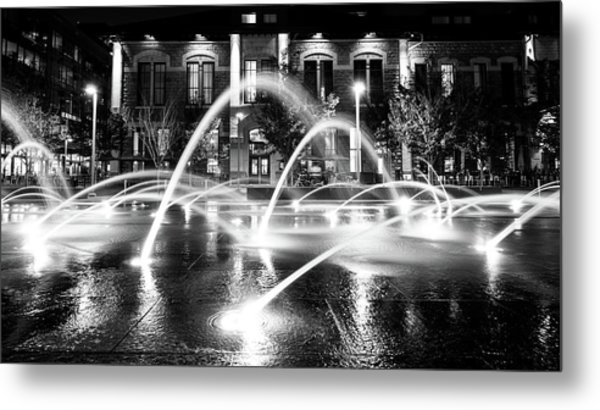 Metal Print featuring the photograph Union Station Fountains by Stephen Holst