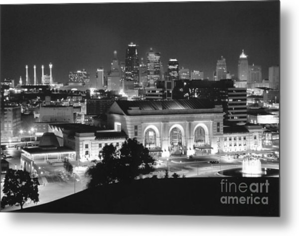 Union Station In Black And White Metal Print