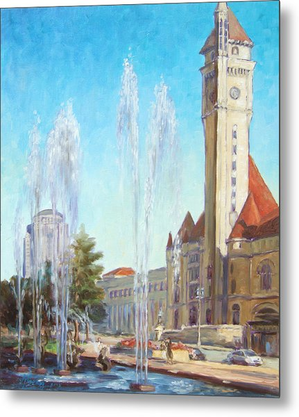Union Station In St.louis Metal Print