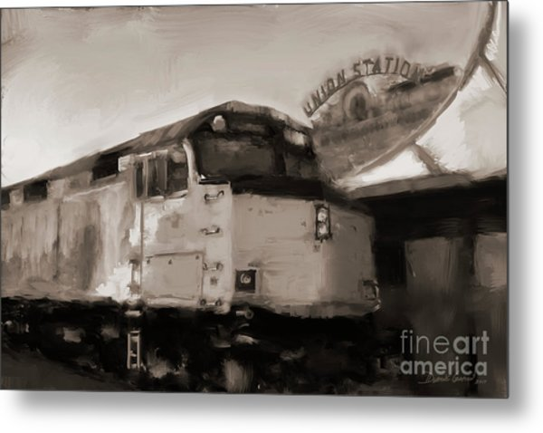 Metal Print featuring the digital art Union Station Train by Dwayne Glapion