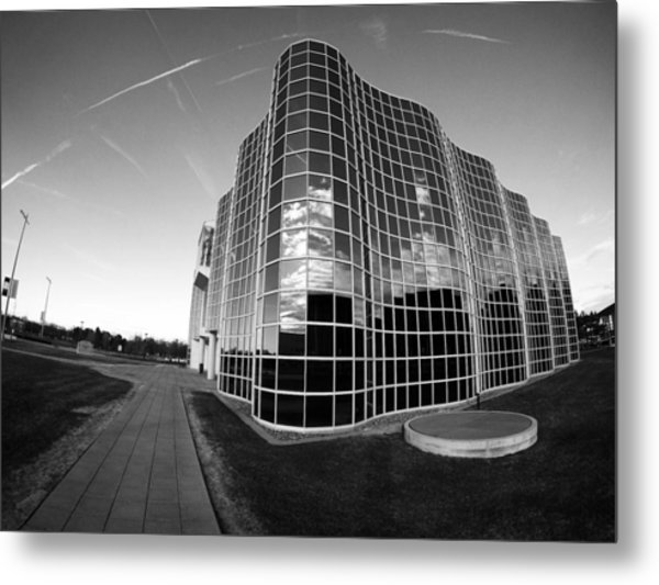 Metal Print featuring the photograph Unique Architecture At University At Albany  by Jessica Tabora