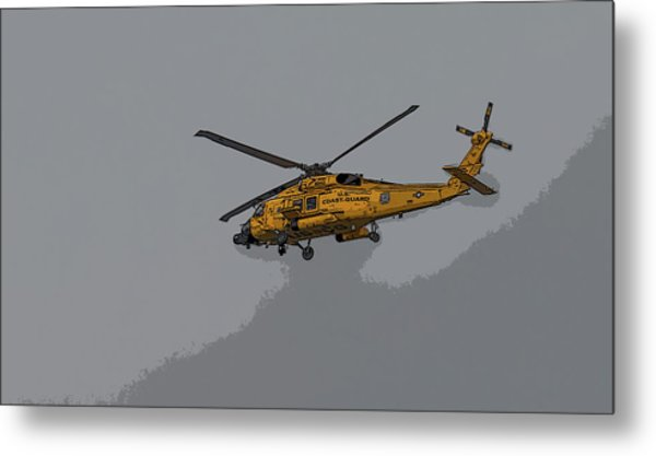 United States Coast Guard Helicopter Metal Print