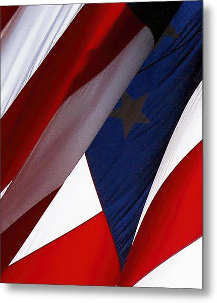 United States Flag Abstract Metal Print