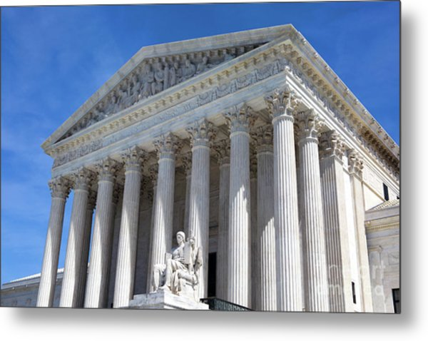 Metal Print featuring the photograph United States Supreme Court Building by Steven Frame