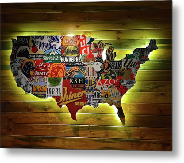 United States Wall Art Metal Print
