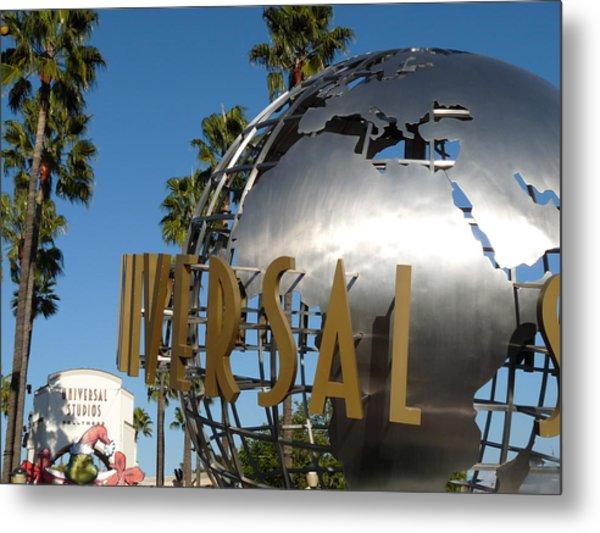 Universal Studios Globe Metal Print