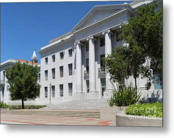 University Of California At Berkeley Sproul Plaza And Sather Tower Campanile Dsc6253 Metal Print