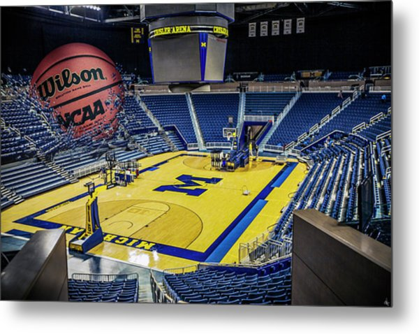 University Of Michigan Basketball Metal Print
