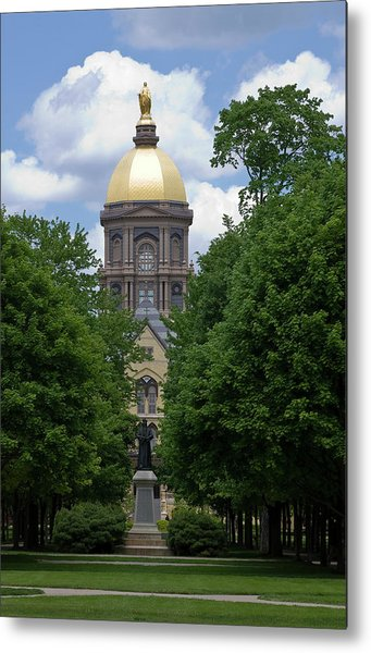 University Of Notre Dame Golden Dome Metal Print