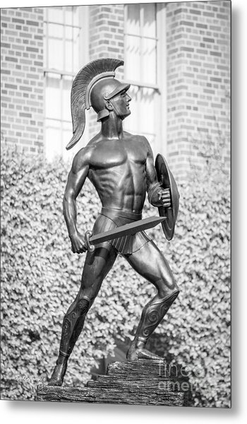 University Of Southern California Tommy Trojan Statue Metal Print
