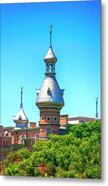 University Of Tampa Minaret Fl Metal Print