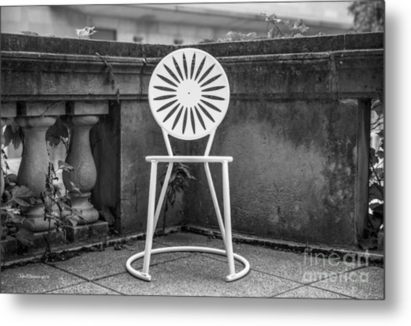 University Of Wisconsin Madison Terrace Chair Metal Print by University Icons