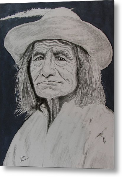 Unknown Indian Vi Metal Print by Stan Hamilton