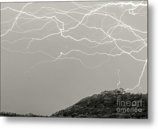 Unreal Lightning Metal Print
