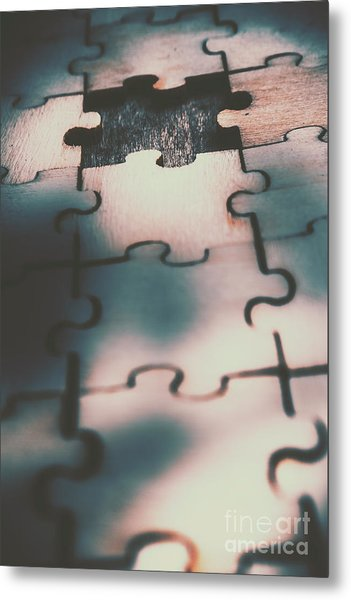 Unsolved Puzzle Metal Print