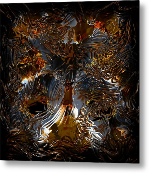 Metal Print featuring the digital art Unsong by Vadim Epstein