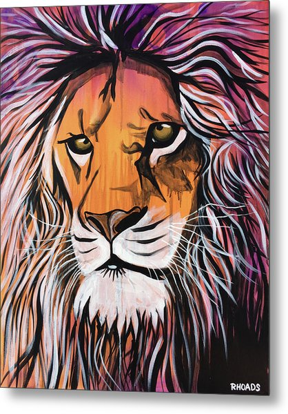 Metal Print featuring the painting Untamed Goodness by Nathan Rhoads