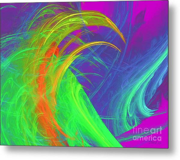 Untitled Abstract 090719-7 Metal Print by Wayne Bonney