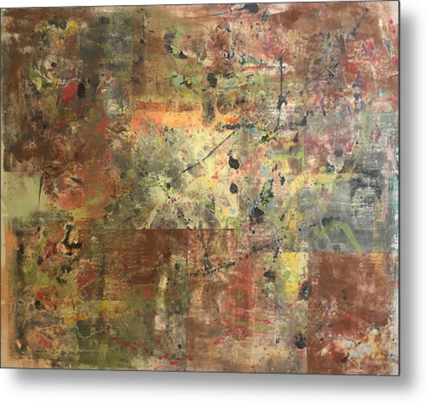 Untitled Clay Monotype Metal Print by William Renzulli