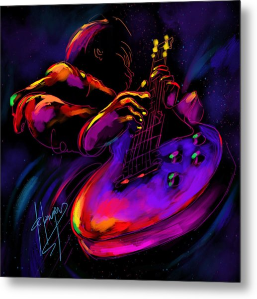 Untitled Guitar Art Metal Print