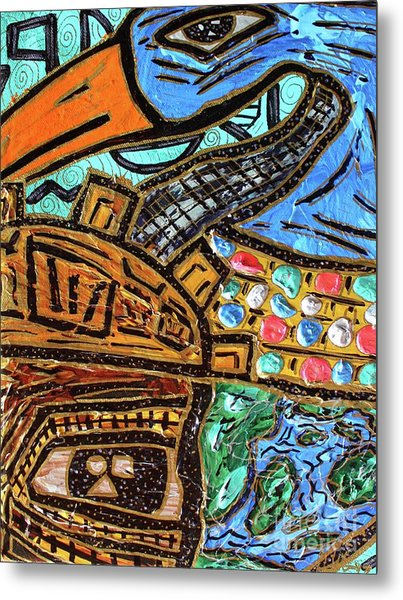 Untitled Olmec And Tehuti Metal Print