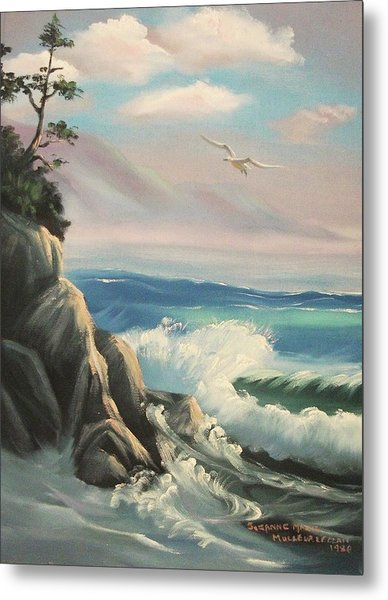 Untitled Seascape Metal Print by Suzanne  Marie Leclair