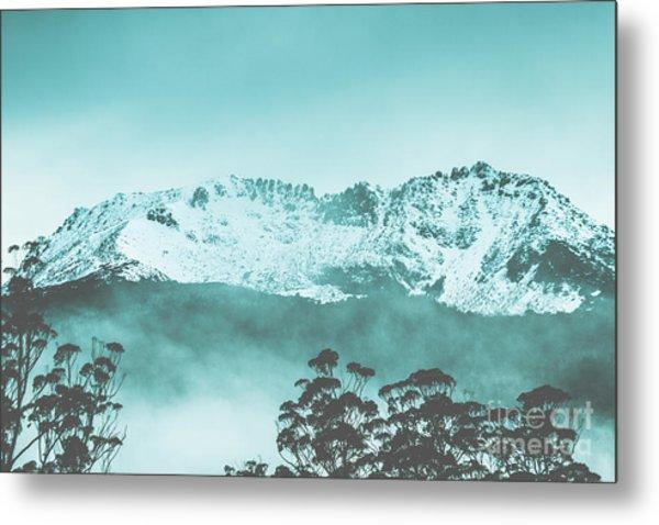 Untouched Winter Peaks Metal Print