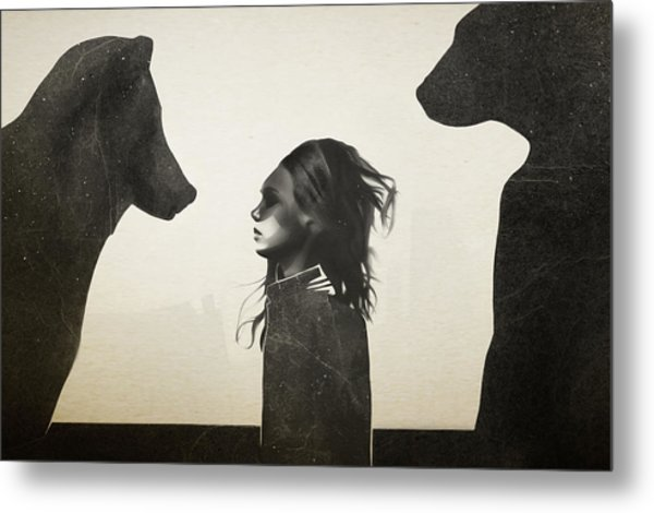 Unusual Encounter Metal Print