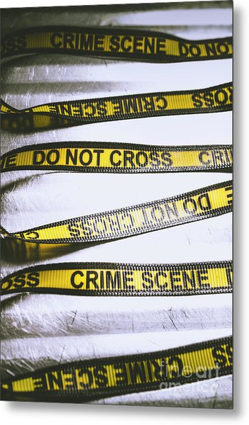 Unwrapping A Murder Investigation Metal Print