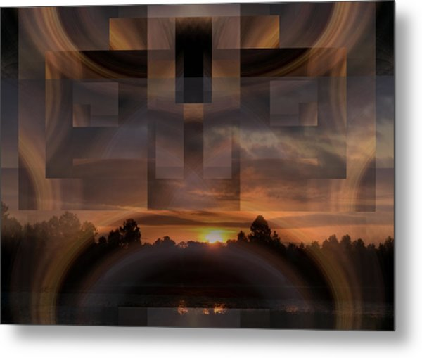 Up There In The Sky At Dawn Metal Print by rd Erickson