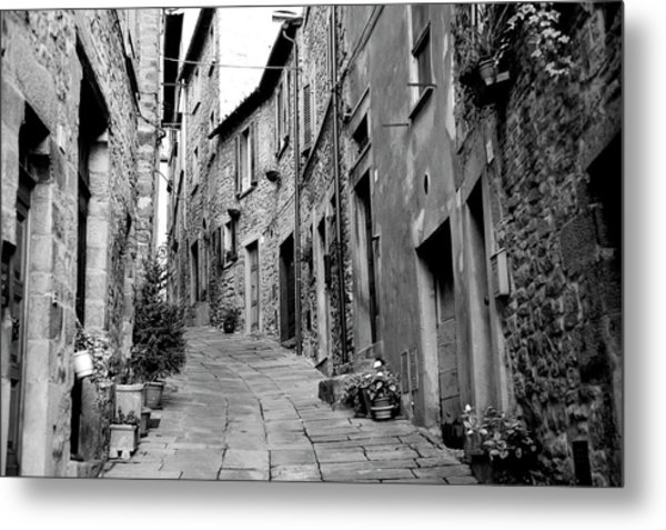 Up This Street Metal Print