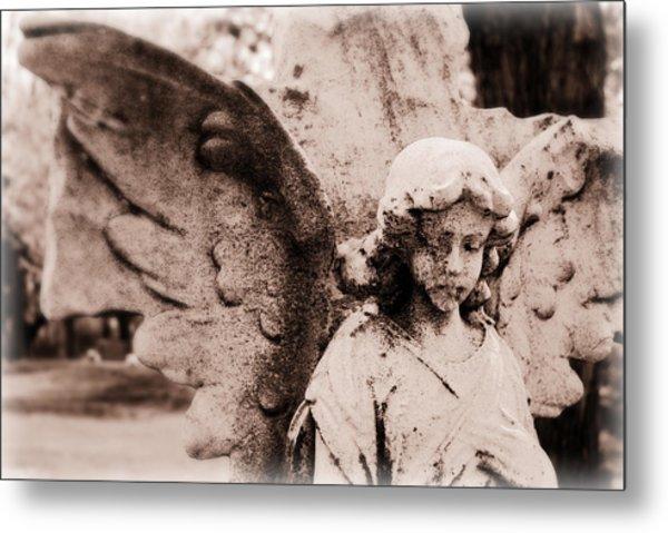 Upon Angel's Wings Metal Print