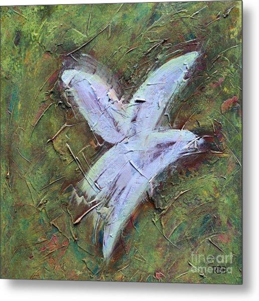 Upon Angels Wings Metal Print