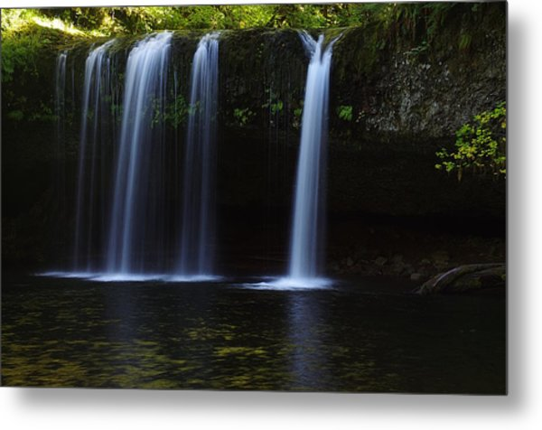 Upper Butte Creek Falls - Front Metal Print
