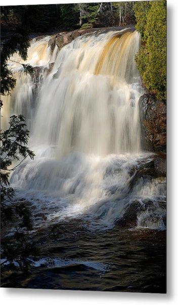 Upper Falls Gooseberry River 2 Metal Print