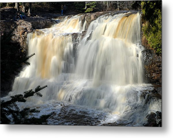 Upper Falls Gooseberry River Metal Print